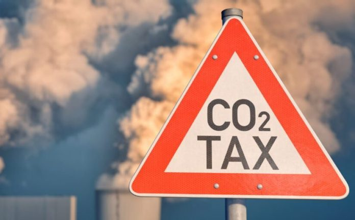 Traffic sign CO2 Tax